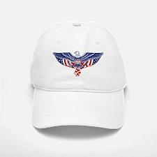 Eagle and American Flag Baseball Baseball Cap