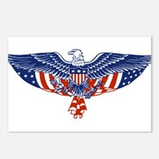 Eagle and American Flag Postcards (Package of 8)