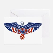 Eagle and American Flag Greeting Cards (Pk of 10)