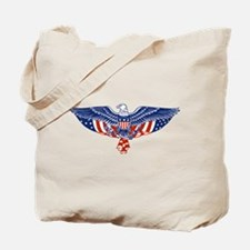 Eagle and American Flag Tote Bag