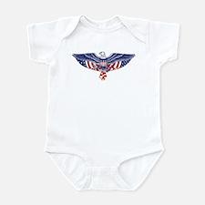 Eagle and American Flag Infant Bodysuit