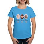 Peace Love Shop Shopping Women's Dark T-Shirt