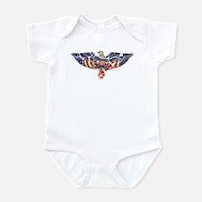 Retro Eagle and USA Flag Infant Bodysuit
