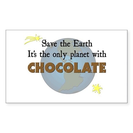 Save the Earth Rectangle Sticker