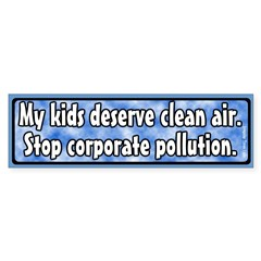 Kids and Pollution Bumper Bumper Sticker