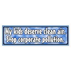 Kids and Pollution Bumper Bumper Sticker