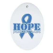 Hope Prostate Cancer Oval Ornament