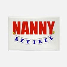 Retired Nanny Rectangle Magnet