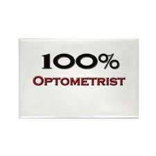 100 Percent Optometrist Rectangle Magnet