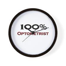 100 Percent Optometrist Wall Clock