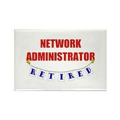 Retired Network Administrator Rectangle Magnet (10