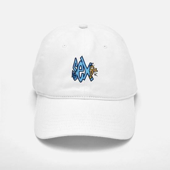 Blue Sex and Symbols Baseball Baseball Cap
