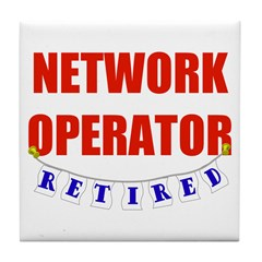 Retired Network Operator Tile Coaster