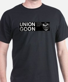 Humorous UNION GOON t-shirt black tee