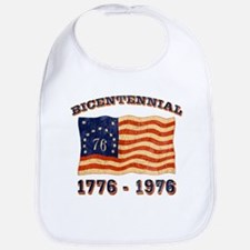 Retro 1776-1976 Flag Bib