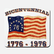 Retro 1776-1976 Flag Mousepad