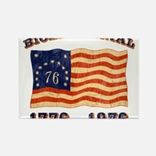Retro 1776-1976 Flag Rectangle Magnet