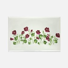 Purple Poppies Rectangle Magnet (100 pack)