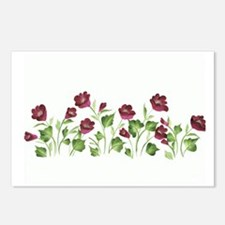 Purple Poppies Postcards (Package of 8)