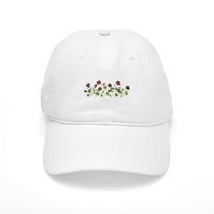 Purple Poppies Baseball Cap