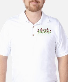Purple Poppies Golf Shirt
