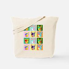 Australian Cattle Dog Pop Art Tote Bag