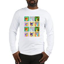 Australian Cattle Dog Pop Art Long Sleeve T-Shirt
