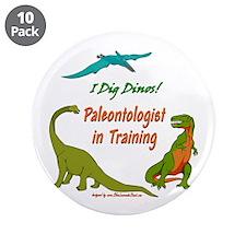 """Train Paleontologist 3.5"""" Button (10 pack)"""