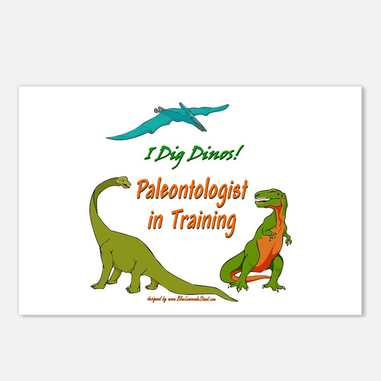 Train Paleontologist Postcards (Package of 8)