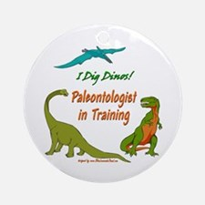 Train Paleontologist Ornament (Round)