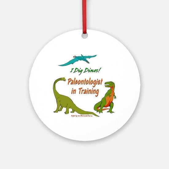 Train Paleontologist Ornament (Round)