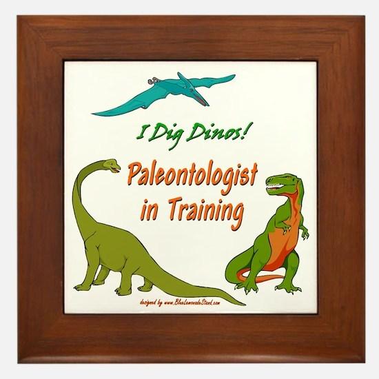 Train Paleontologist Framed Tile