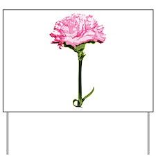 Pink Carnation Yard Sign