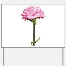Pink Carnation Yard Sign