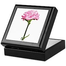 Pink Carnation Keepsake Box