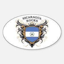 Nicaragua Rocks Oval Decal