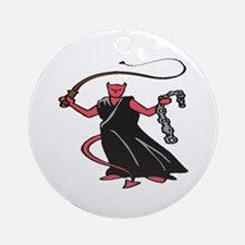 Chain and Whip Demon Ornament (Round)