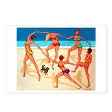 Beach Happy Dance Postcards (Package of 8)