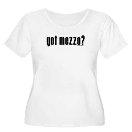 got mezzo? Women's Plus Size Scoop Neck T-Shirt