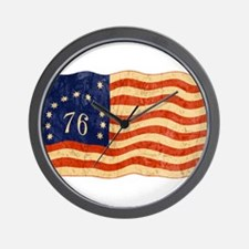 Retro 1776 American Flag Wall Clock