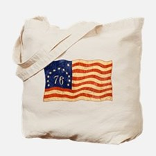 Retro 1776 American Flag Tote Bag