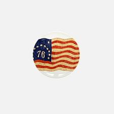 Retro 1776 American Flag Mini Button
