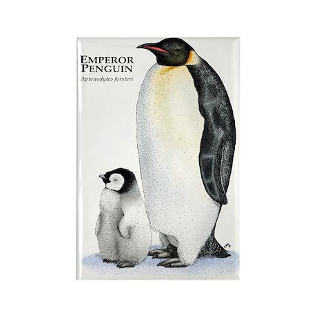 Emperor Penguin Rectangle Magnet