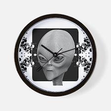 Alien Type 1 Alt. Black Wall Clock