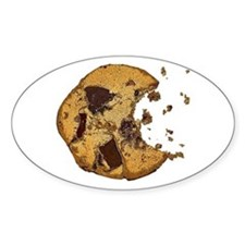 Chocolate Chip Cookie Oval Decal