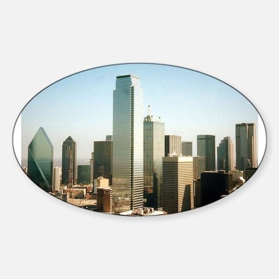 Dallas Skyline Oval Decal