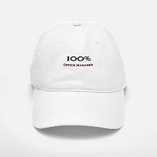 100 Percent Office Manager Baseball Baseball Cap