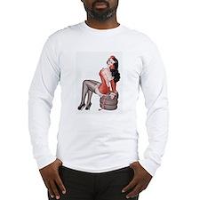 Red Flower Girl Long Sleeve T-Shirt