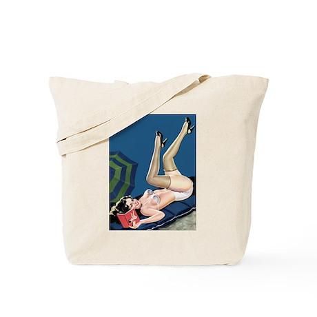Reading Girl Tote Bag