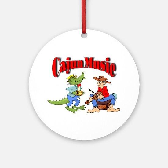 Cajun Music Round Ornament